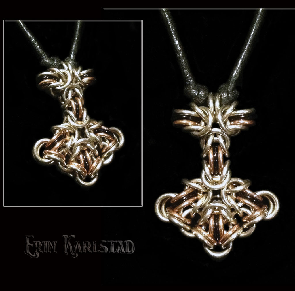 Jewelry design erin karlstad chain maille mjlnir pendant mozeypictures Image collections