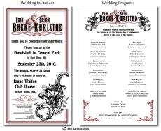 Wedding Invitation & Program design